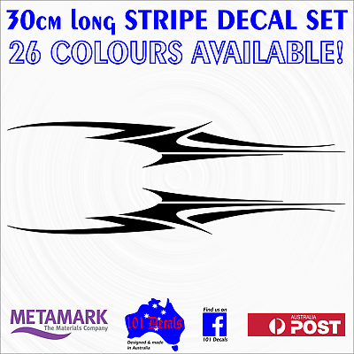 30cm TROUT fish marine grade vinyl decals sticker set for boat,tinny,kayak,car!