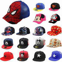 Toddler Baby Kids Boys Baseball Cap Adjustable Cartoon Snapback Hip-hop Bboy Hat