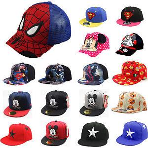 10581eeac709c6 Das Bild wird geladen Kinder-Jungen-Maedchen-Snapback-Basecap-Baseball-Cap- Kappe-