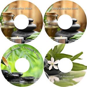 Relaxation-Music-4-CD-Collection-Bamboo-Healing-Stress-Relief-Deep-Sleep-Calming