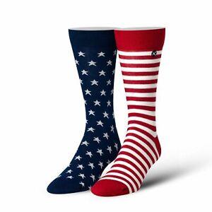 Odd Sox, Unisex, American Flag, Stars & Stripes, Dress Socks, Patriotic Novelty