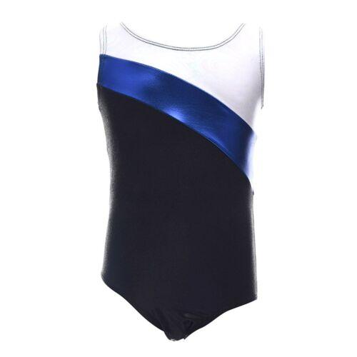 Kids Girls Youth Shiny Gymnastics Leotards Training Ballet Dance Bodysuits 3-11Y