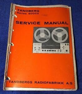 Details about TANDBERG 6000X ORIGINAL SERVICE MANUAL SCHEMATIC M996