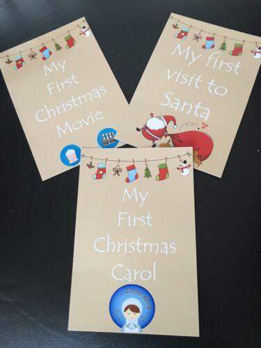 Baby Milestone Cards First Christmas Xmas Milestone Cards