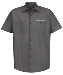 Authentic LUCKY 13 Winged Skully Work Shirt Charcoal S-4XL NEW