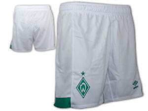 Umbro-SV-Werder-Bremen-Home-Short-weiss-SVW-Sporthose-Werder-Turnhose-Gr-S-XXL