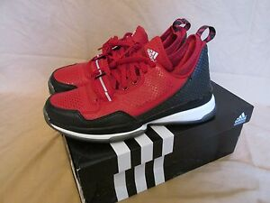 New Youth Men s Adidas D Lillard 1 Basketball Shoes Power Red Black ... 4597e0306475