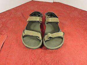 Sz 7 mens Tevas black sandals shoes velcro strap red 1510 #34