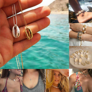 Natural-Shell-Cowrie-Beach-Sea-Pendant-Choker-Necklace-Bracelet-Earrings-Jewelry