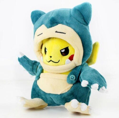 Pokemon Anime Plüsch Figur Stofftier Pikachu Cosplay Relaxo Snorlax 20 cm NEU