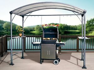 Details About Abba Patio 9 X 5 Outdoor Backyard Bbq Grill Gazebo With Steel Canopy Gray