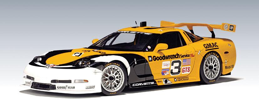 Autoart 1 18 2000 Chevrolet Corvette C5-R Le Mans Texas ganador