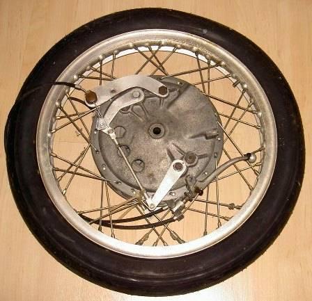 WM1 1.60 X 18 -40 hole genuine Borrani flanged alloy motorcycle rim, 210 Fontana