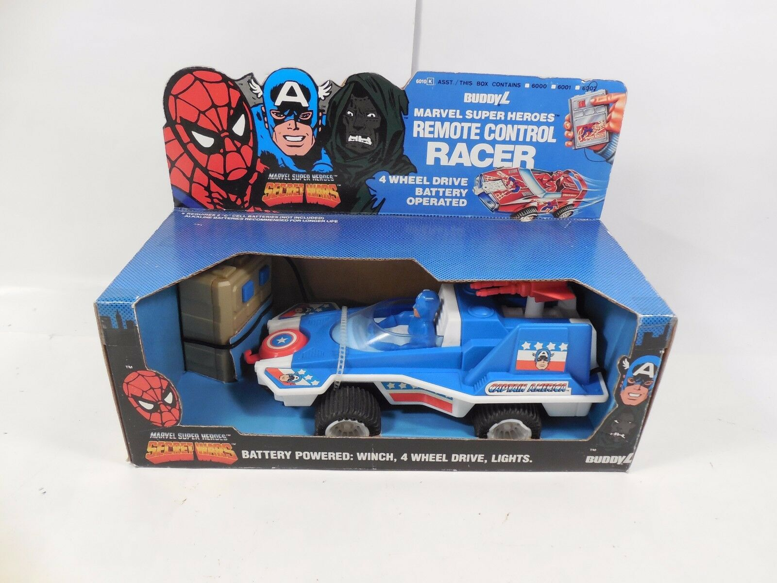 SEALED BUDDY L MARVEL SECRET WAR CAPTAIN AMERICA REMOTE CONTROL RACER MIB 1985