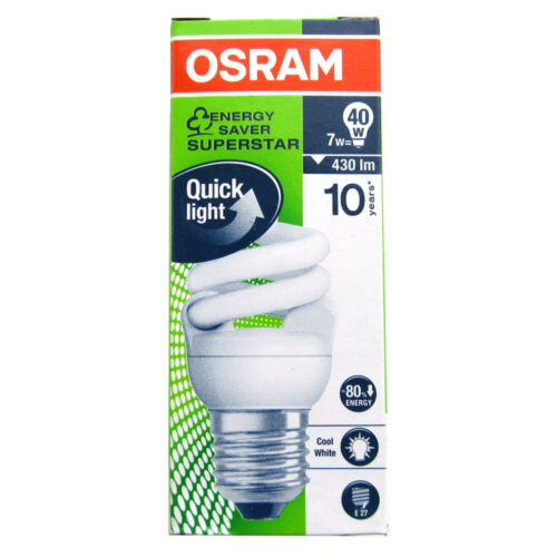 Osram Micro Twist 7W = 40W E27 Leuchtstofflampe Kompaktleuchtstofflampe 948960 O