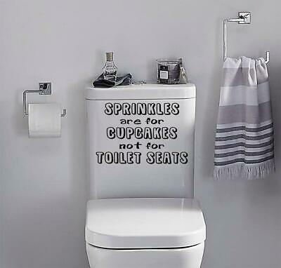 Toilet Funny Sticker Sprinkles Are For, Funny Bathroom Decals