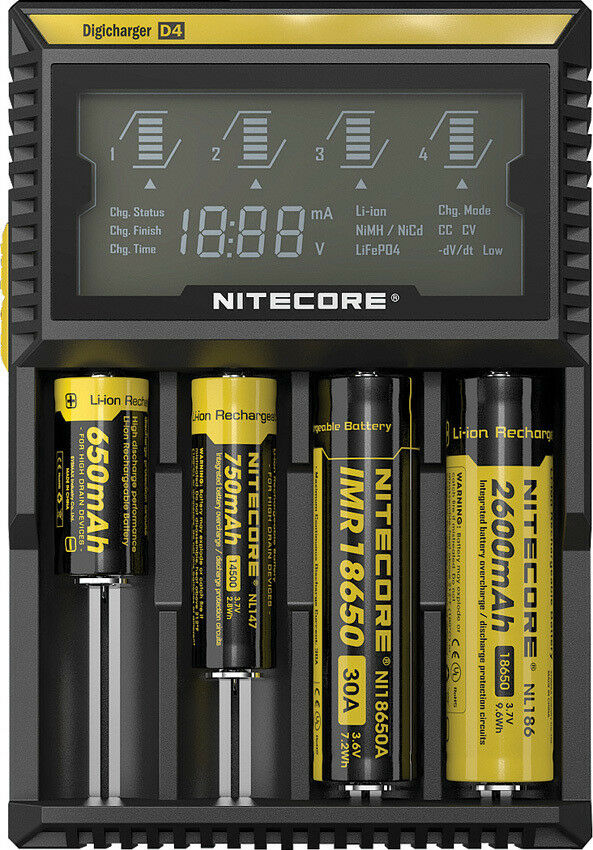 Nitecore Digicharger Battery Charger D4 Knife D4 Capable Capable D4 of charging four batter 33859d