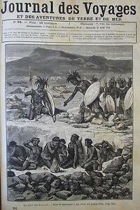 Zeitung-der-Voyages-Nr-94-von-1879-Afrika-Zeremonie-Funebre-Zoulou-Cherbourg