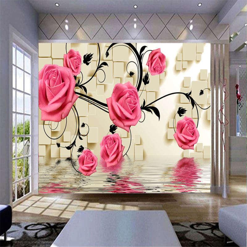 Precious Soft Rose 3D Full Wall Mural Photo Wallpaper Printing Home Kids Decor