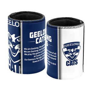 AFL-Drink-Stubby-Cooler-Set-Of-Two-Team-Song-Geelong-Cats-BNWT