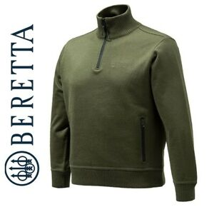 Beretta-Techno-Windshield-Half-Zip-Sweater-Green-Hunting-Shooting-Jumper-PU421