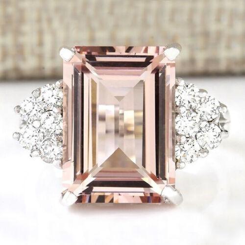 925 Silver Diamond Sapphire Gemstone Colorful Rings Wedding Jewelry For Women