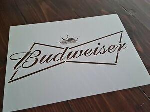 Grand-BUDWEISER-biere-logo-Stencil-Bar-Signe-Peinture-Modele-Reutilisable-Aerographe-A-faire-soi