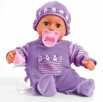 Babypuppe First Words Mit Schlafaugen 24 Babylaute Bayer Design 93800-lila 3 To Be Highly Praised And Appreciated By The Consuming Public