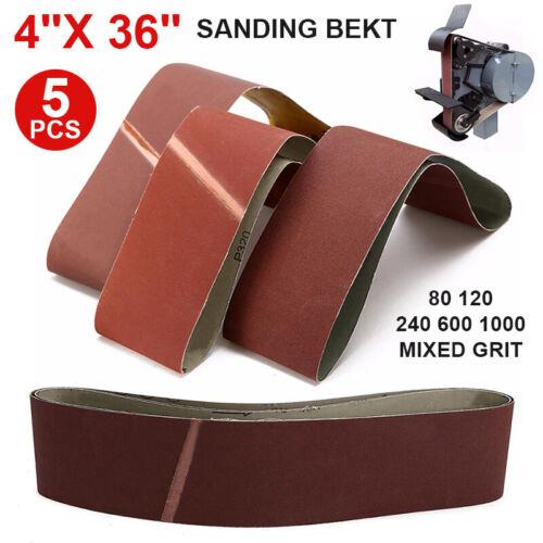 5pcs 100x915mm Sanding Belt 80-1000 Mixed Grit For Wood Grinding Stock