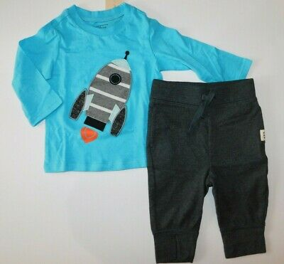 NWT Gap Toddler Boy 2 Pc Outfit Polo Shirt Joggers Pants 6-12M New Free Shipping