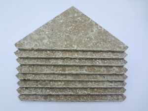 4 Tumbled Limestone Corner Shelves For Tile Shower Soap Shampoo Shelf Dish Beige Ebay