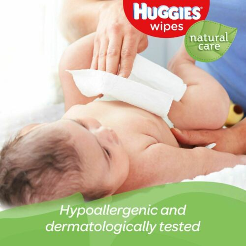 1,040 ct. Fragrance Free Pack of 2 Huggies Natural Care Baby Wipe Refill