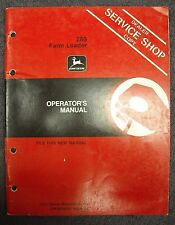 Used John Deere 280 Farm Loader Operators Manual Omw28540 Issue A3 Tractor