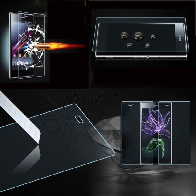 100% Genuine Front and Back Tempered Glass Screen Protector For Sony Xperia