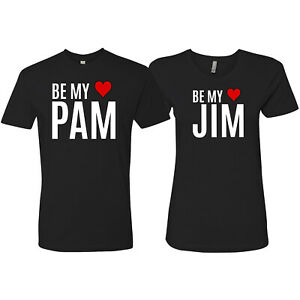 Be-My-Jim-Pam-Cute-The-Office-T-Shirts-Valentine-039-s-Day-Shirt