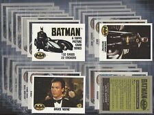 TOPPS-FULL SET- BATMAN WITH STICKERS (A&BC STYLE - GREY BACK) - EXCELLENT!!!