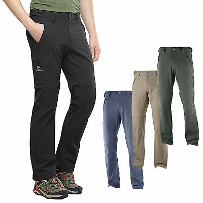 Salomon Wayfarer Zip Pant Men's Trekking Trousers Outdoor Removable Legs | eBay
