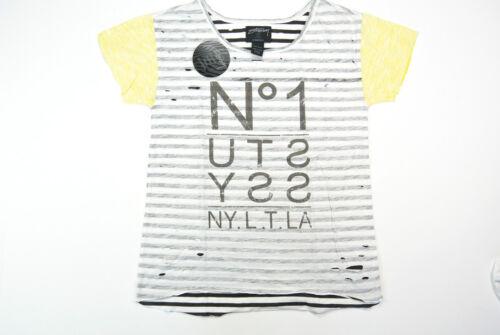 Stussy Women Tee Stüssy Frauen T-Shirt No 1 Black Yellow