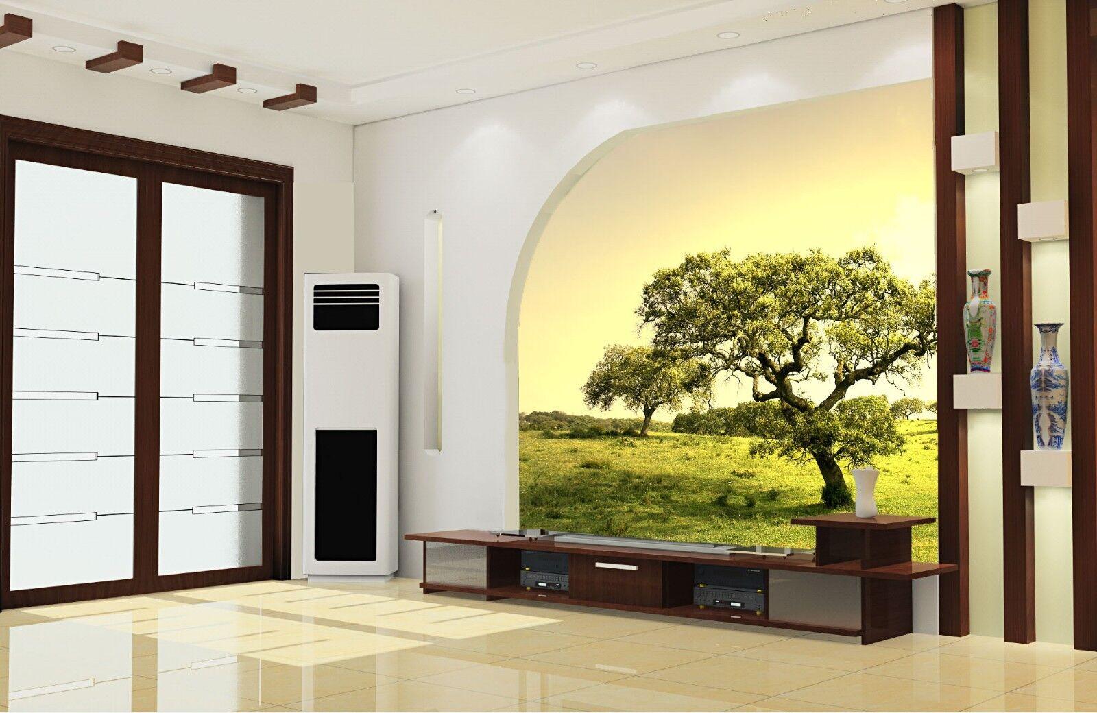 3D albero prato 579 carta da Parati Murali Muro Muro Muro Stampa Murales Adesivo Per Pareti AJ Muro UK Jenny 0b79bf