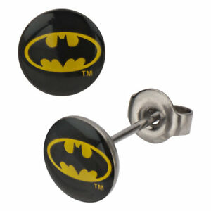 DC Comics Batman Batman Symbol Stainless Steel Stud Earrings