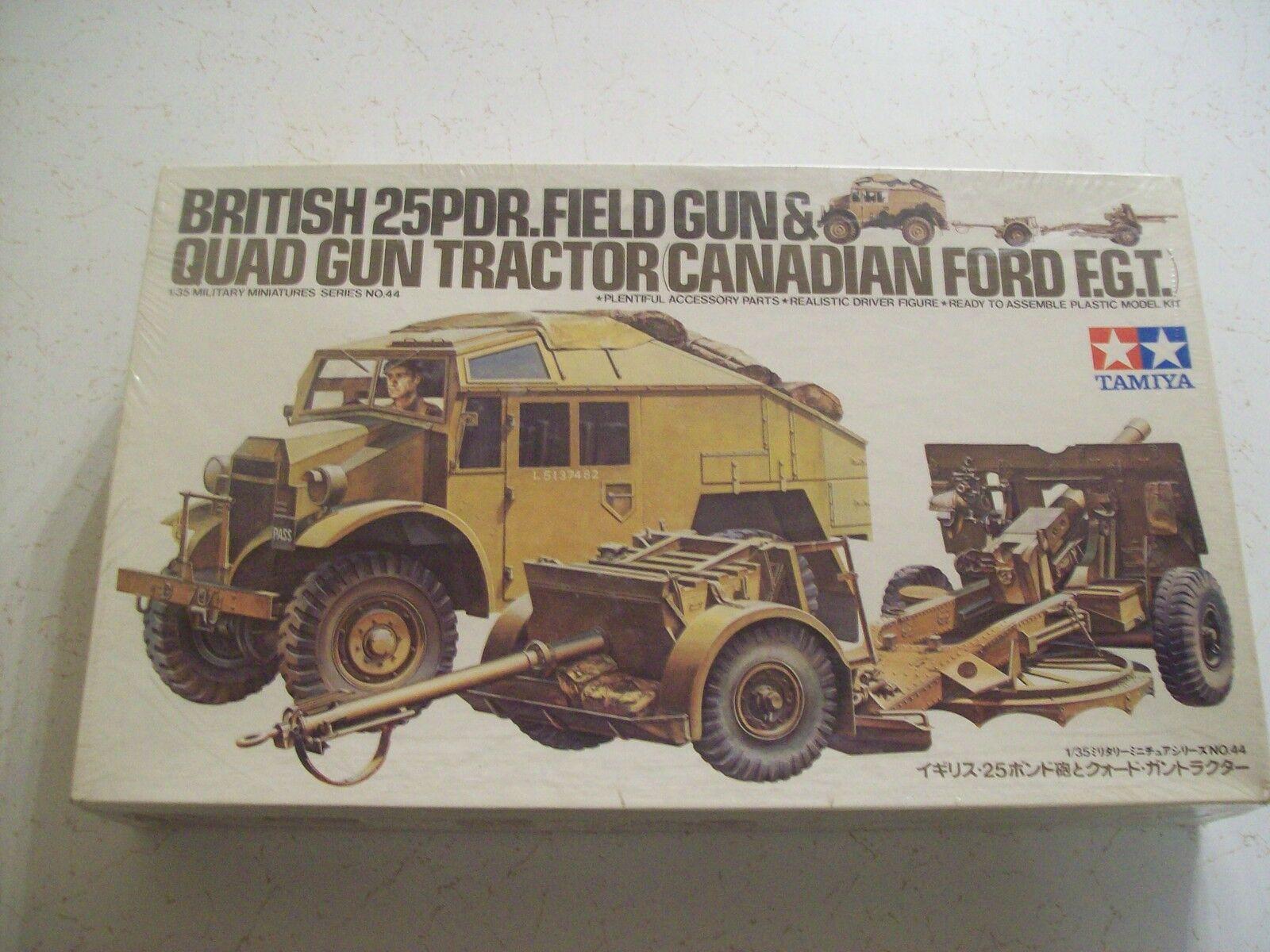 Tamiya 1 35 Model Kit British 25PDR Field & Quad Gun Tractor Canaidan Ford MM144