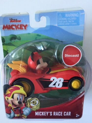 Disney Junior Mickey Roadster Cars Set of 5 Mickey Goofy Minnie Donald Mickey