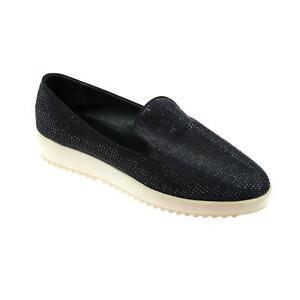 Ballerinas Damen Schuhe Loafer B1-3085 Moderne Halbschuh Slipper Schwarz Blau 39