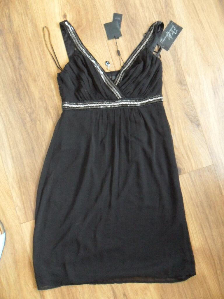 Esprit collection Kleid 36 S neu NP  Pailetten Mesh Hochzeit