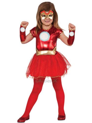 Iron Lady Man Fancy Dress Costume Girls Tutu Superhero Rescue Outfit Avengers