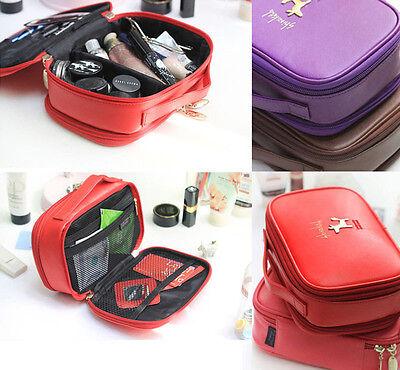Shinzi Katoh - Jenny 2Step Makeup Pouch Travel Accessory Organizer Cosmetics Bag