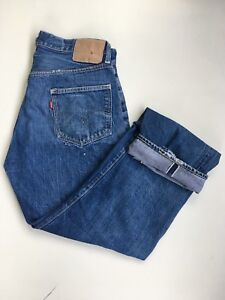 True-Vintage-Levis-501-32x29-Selvage-dark-blue-denim-USA-made
