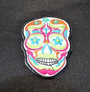 bb01 Sugar Skull Tattoo Día de los Muertos Aufnäher Bügelbild Totenkopf Patches