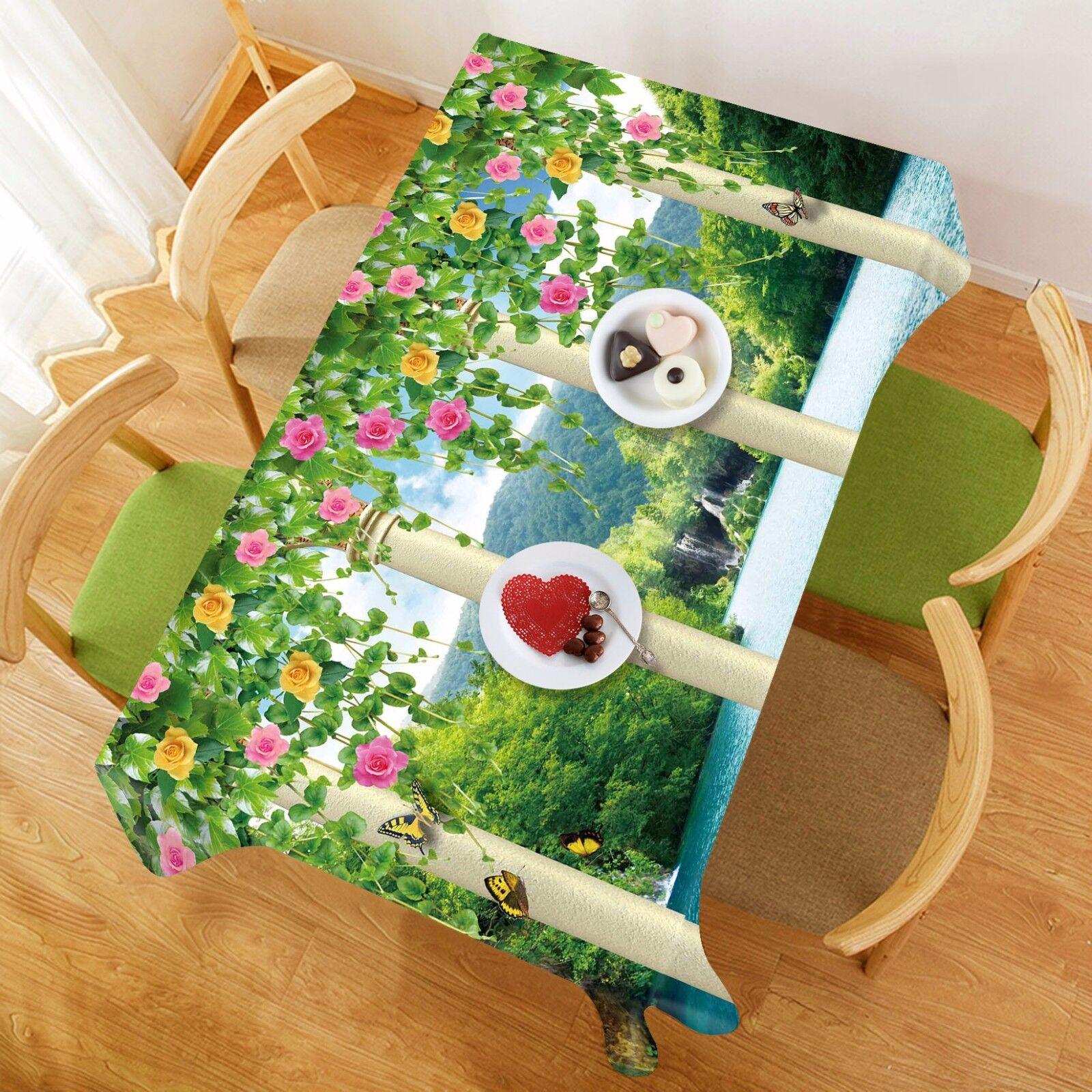 Jardin 3D 9032 Nappe Table Cover Cloth Fête D'Anniversaire événement AJ papier peint UK