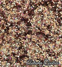 Mixed Nail Glitter Gel/acrylic Nail art Chunky Rose Gold 6g Bag Autumn Cookies